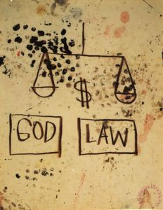 God Law Painting by Jean-michel Basquiat; God Law Art Print for sale